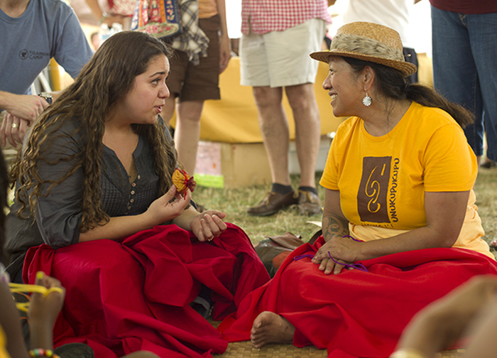 Participants from the University of Hawai'i at the 2012 Smithsonian Folklife Festival's <i>Campus and Community</i> program. Photo by Carsten Schmidt, Ralph Rinzler Folklife Archives and Collections, Smithsonian Institution