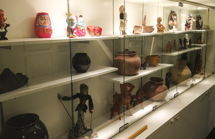 One of many display cases in the Center for Folklife and Cultural Heritage office. Photo by Elisa Hough