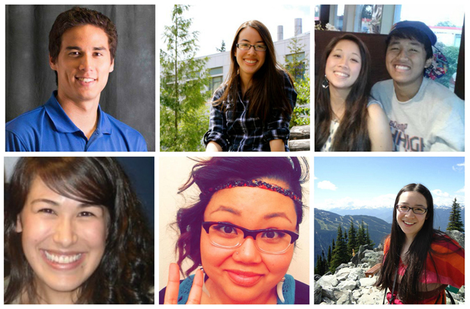 Top: Ray Parker; Kelley Asamoto; Max and Emily Cukurs. Bottom: Christine Munteanu; Serii Hattori; Katie Cunningham. Photos courtesy of interviewees and edited by Hannah Norris