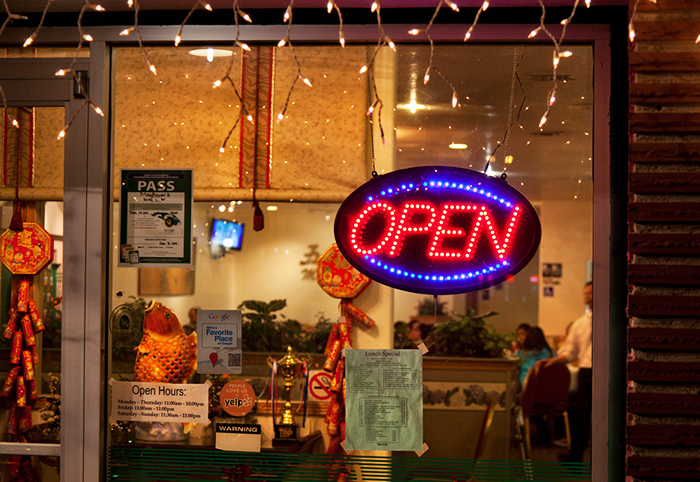 A Chinese restaurant in Sacramento, California, stays open on Christmas. Photo by Robert Couse-Baker