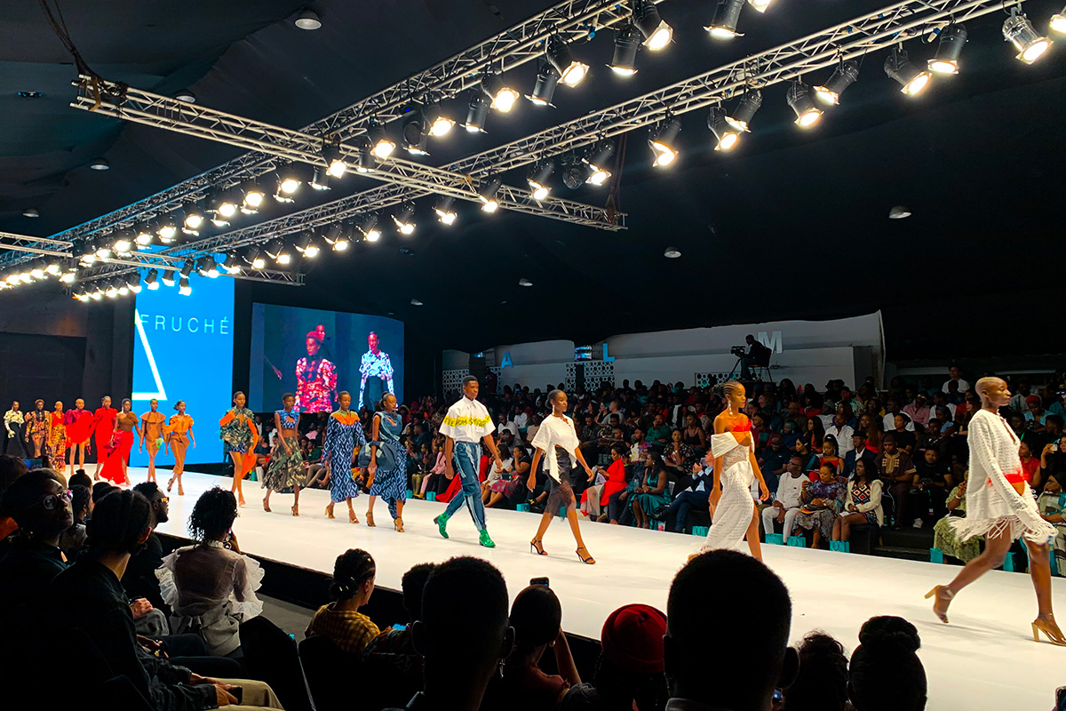 Fruché show at Lagos Fashion Week 2019. Photo by Haili Francis