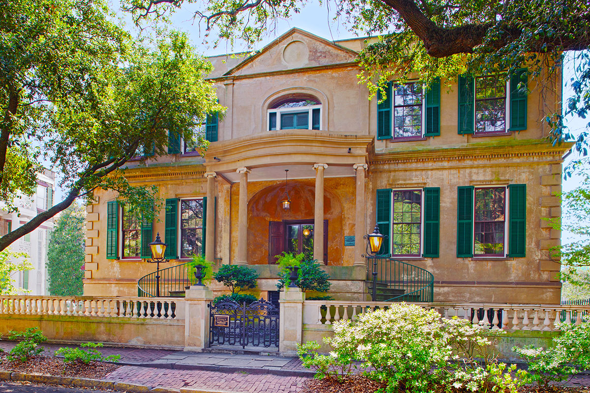 The Owens-Thomas House is located in Savannah, Georgia, and considered one of the finest examples of English Regency architecture in America. Photo courtesy of the Owens-Thomas House