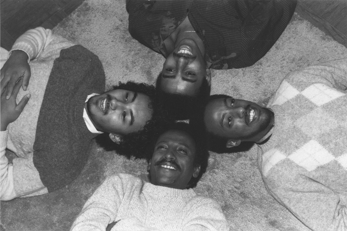 Admas. From left, clockwise: Abegasu Shiota, Henock Temesgen, Tewodros Aklilu, and Yousef Tesfaye. Photo courtesy of Frederiksberg Records