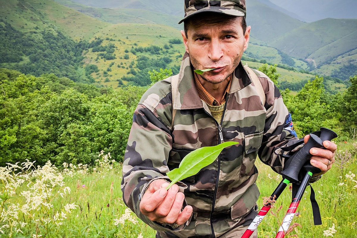 By nature of their proximity, villagers in the Armenian countryside are knowledgeable about indigenous plants and herbs. <br><i>Photo by Tom Allen, Transcaucasian Trail</i>