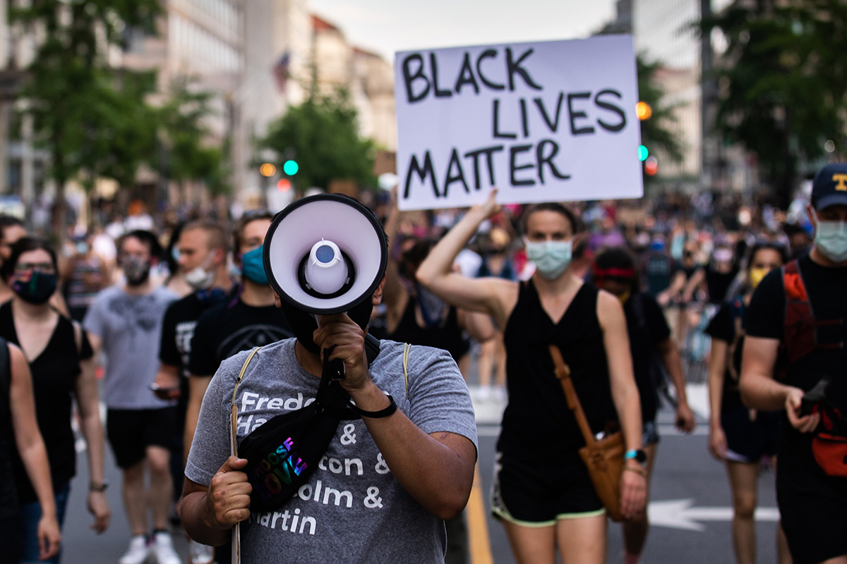 Black Lives Matter protest in Washington, D.C. June 3, 2020. Photo by Albert Tong