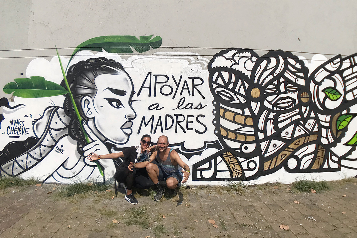 D.C. artists Miss CHELOVE and MASPAZ painted this mural in recognition and celebration of mothers in Medellin, Colombia, in 2019. Photo courtesy of the artists