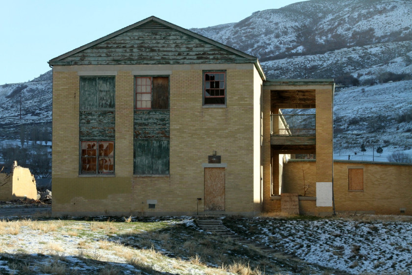 A building on the Intermountain Indian School campus, December 2012. Photo by CJ Guadarrama