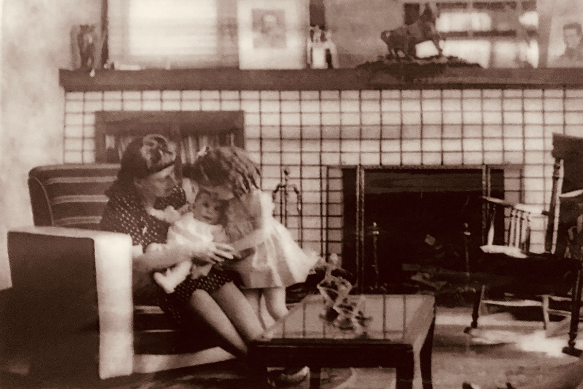 Mom, Che-She, and me when I was only months old in my grandmother's house. Photo courtesy of La Verne Magarian