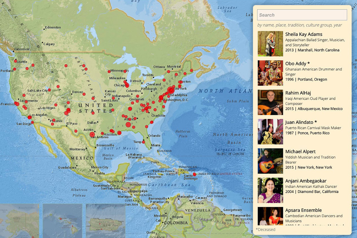 Masters of Tradition story map. Image courtesy of Esri