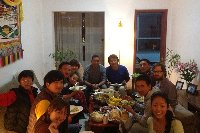 A traditional Tibetsgiving dinner. Photo by Tim Thurston
