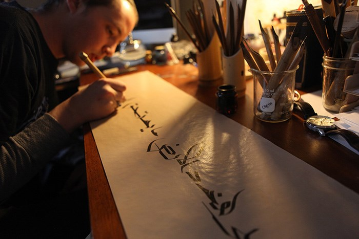 Josh Berer at work at his studio in Washington, D.C. Photo by Rachael Strecher