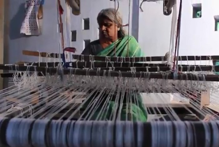 Prabhavathi is a mat weaver in Killimangalan, India, and the subject of a winning 2015 Global Folklorist Challenge entry. Still from video produced by Sruthika and Ashitha