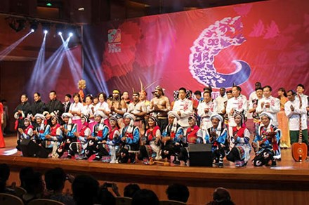 An international lineup at the 2014 Guiyang Summer Festival of Indigenous Music. Photo by Atesh Sonneborn