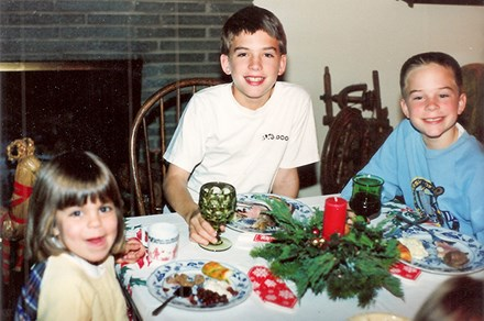 Eating Christmas Eve smörgåsbord with my cousins at the kids' table, 1989. Photo courtesy Cecilia Peterson