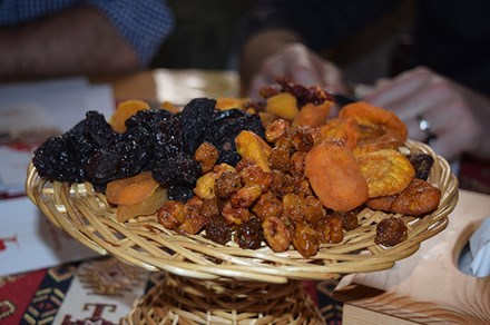 A platter of dried Armenian fruits. Photo courtesy of My Armenia project team