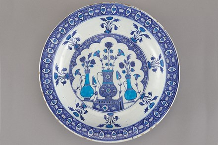 Ottoman period plate, circa 1525. Photo courtesy Charles Lang Freer Endowment