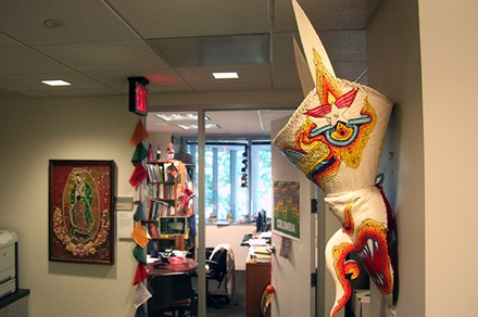 The mysterious Thai mask in the Center for Folklife and Cultural Heritage office. Photo by Elisa Hough
