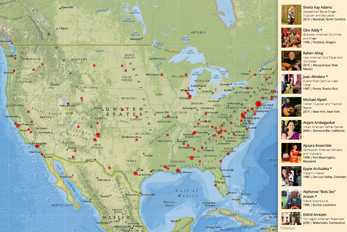 """Masters of Tradition"" Story Map Spotlights America's Cultural Diversity"