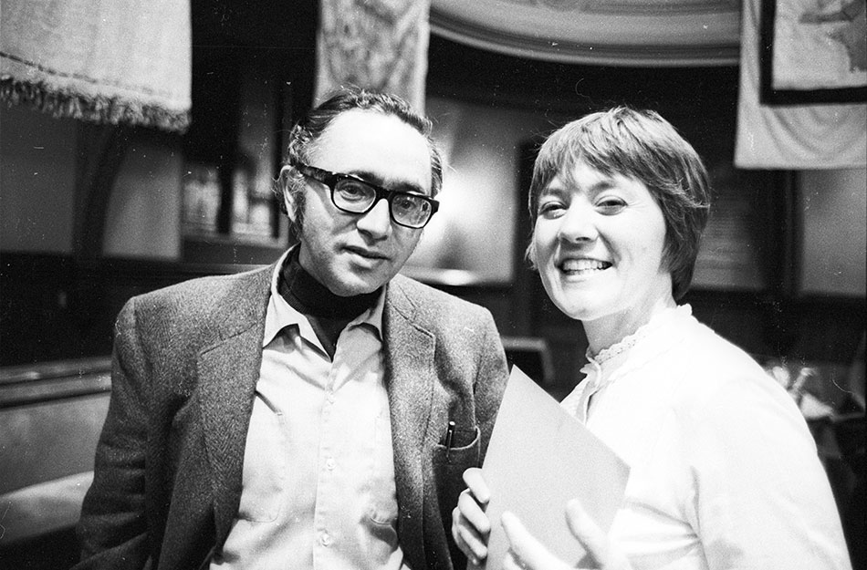 Irwin Silber and Barbara Dane, founders of Paredon Records. Photo by Diana Davies.