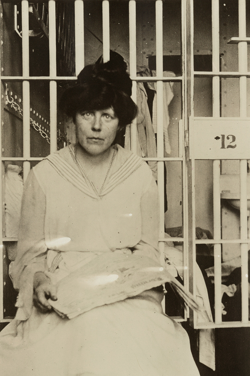 Lucy Burns in Occoquan Workhouse, Washington