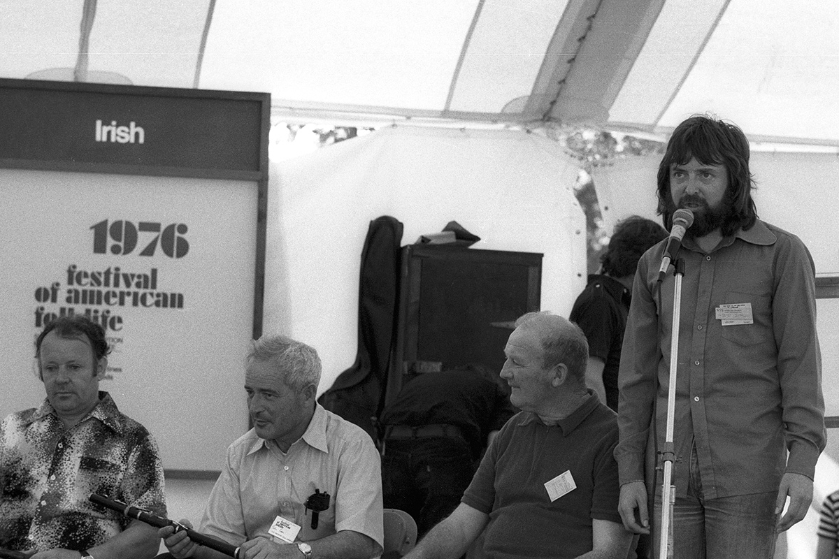 Irish musicians at the 1976 Smithsonian Folklife Festival