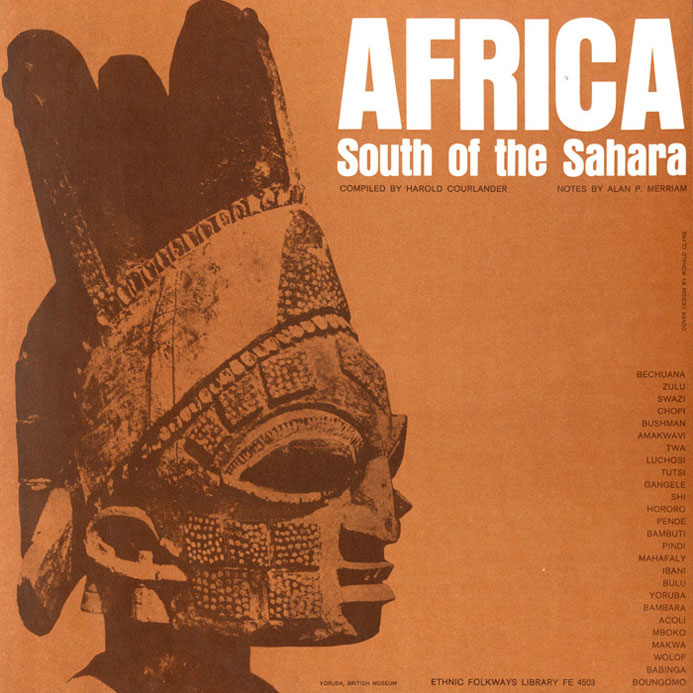 "Cover art for the album ""Africa: South of the Sahara"" showing a carved mask."