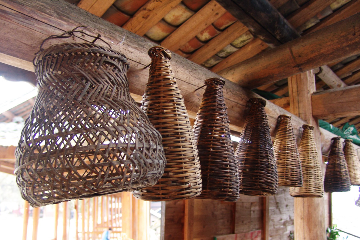 Basketry styles in Southwest China