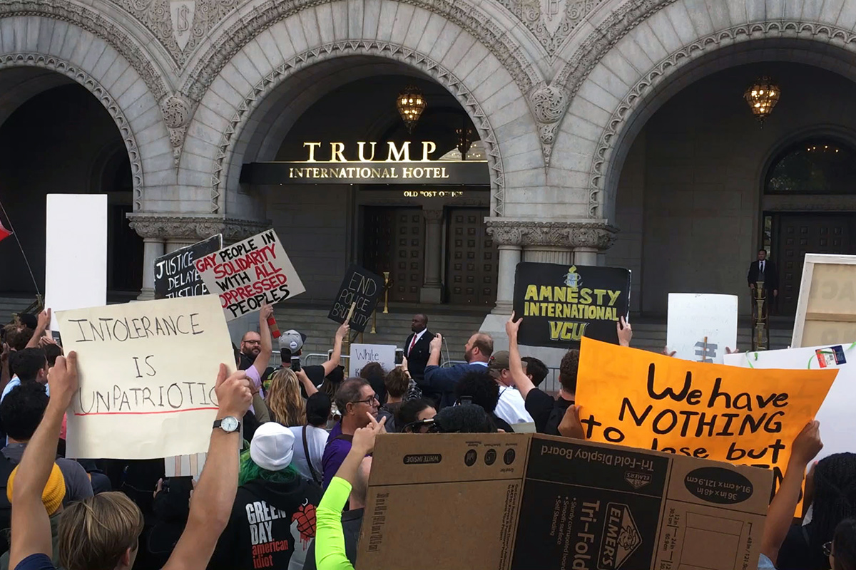 March for Racial Justice at Trump International Hotel