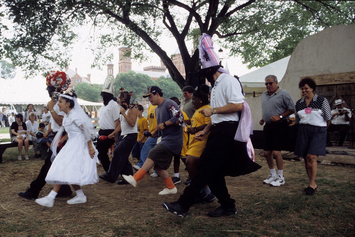 Matachines dance at the Smithsonian Folklife Festival