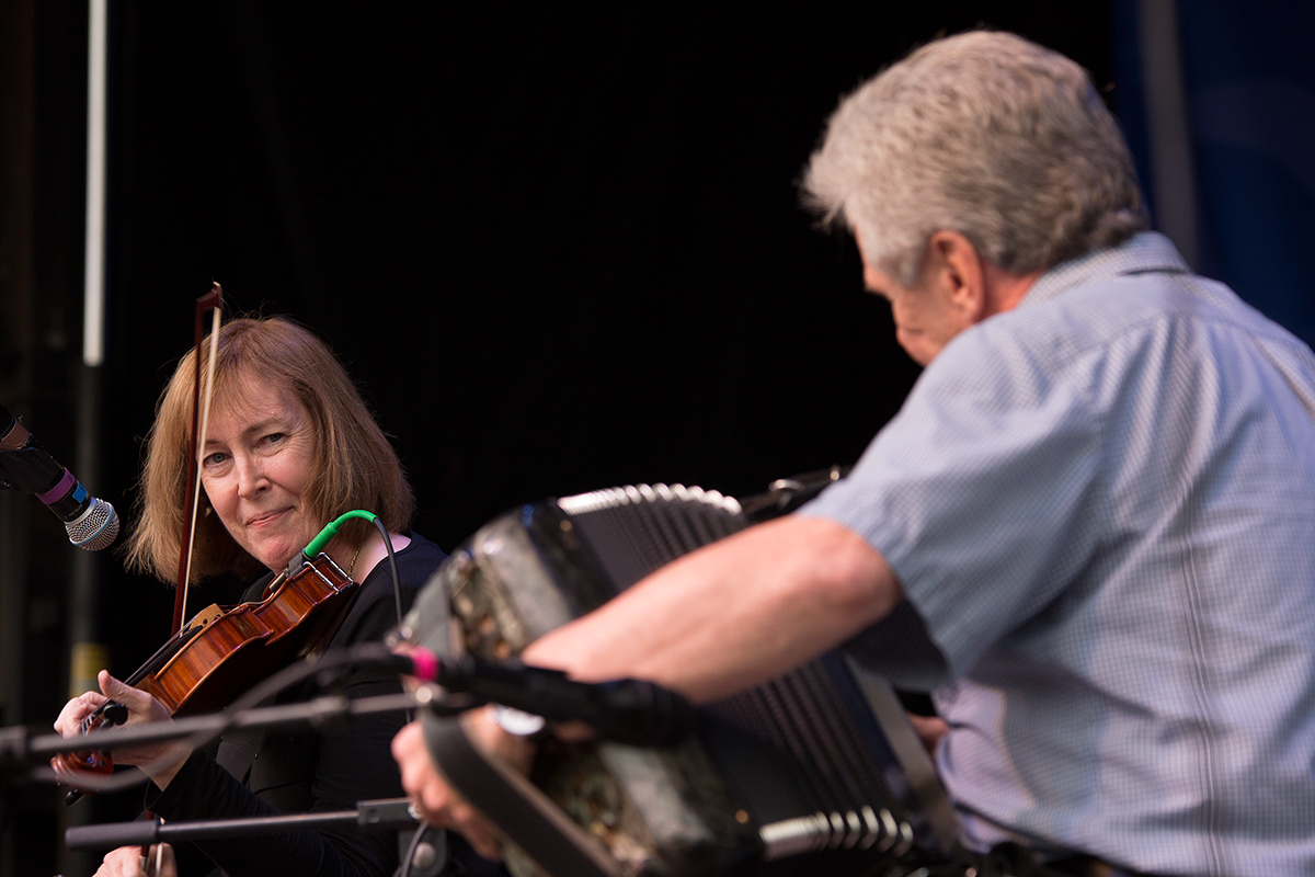 Liz Carroll and Billy McComiskey at the 2016 Smithsonian Folklife Festival