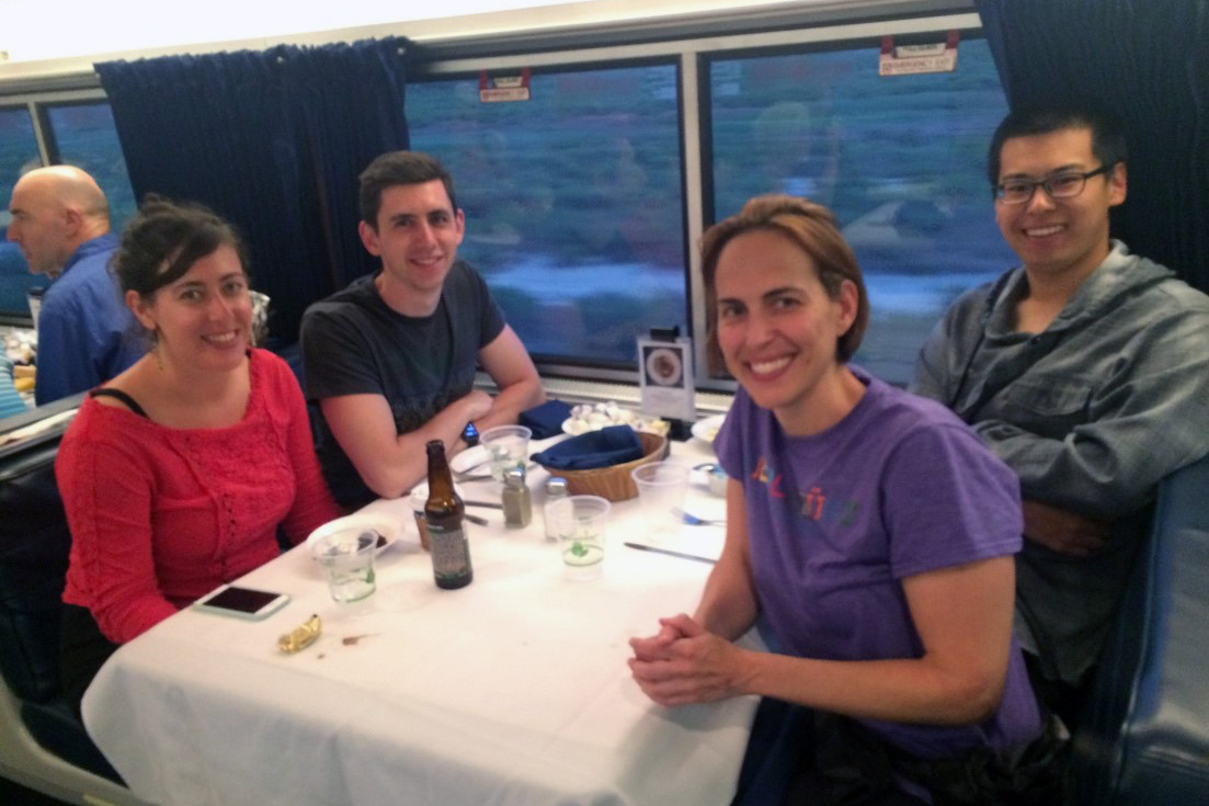 Sarah Federman on Amtrak