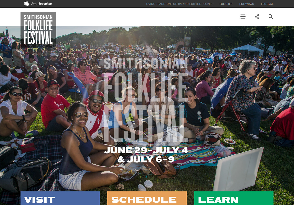 Smithsonian Folklife Festival website