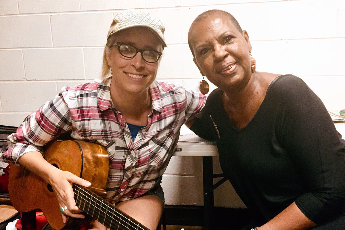 Musicians Laura Veirs and Brenda Evans