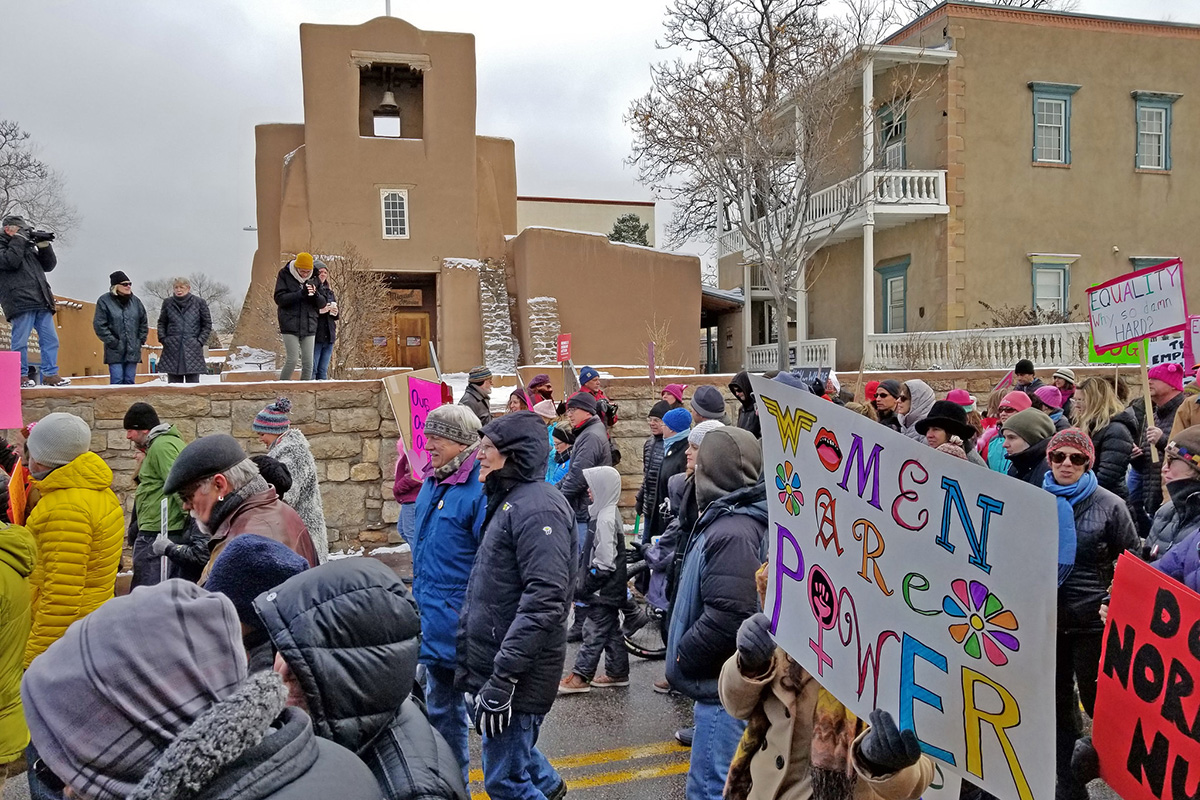 Santa Fe Women's March on January 21, 2018