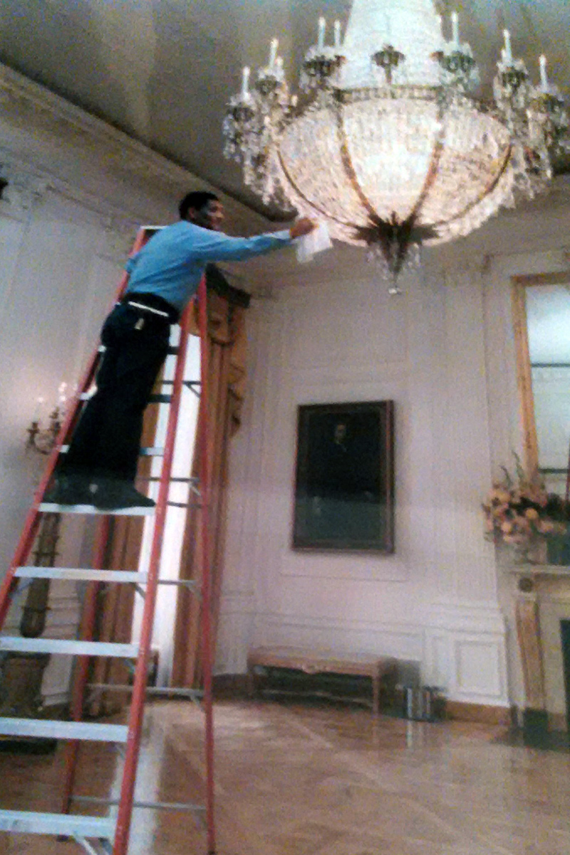 Stewart Stevens, White House window washer