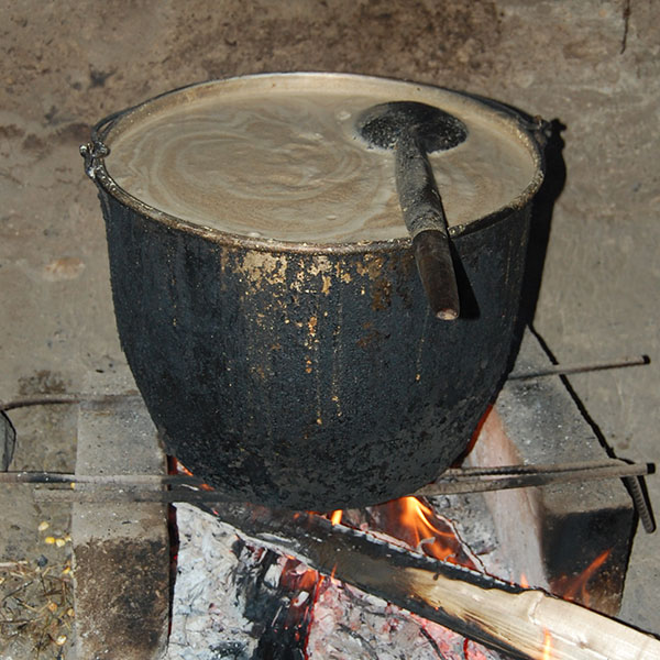 The process of making aswa or chicha (corn beer)