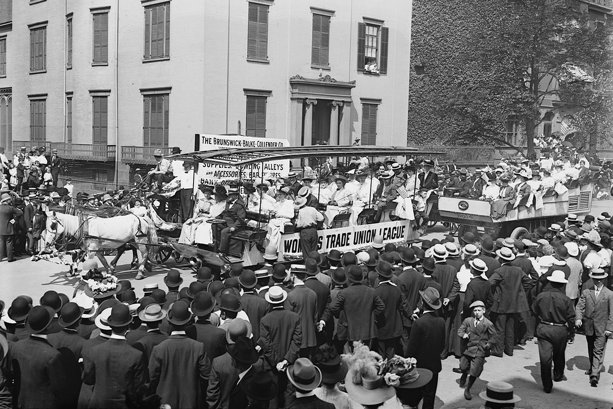 1908 Labor Day parade