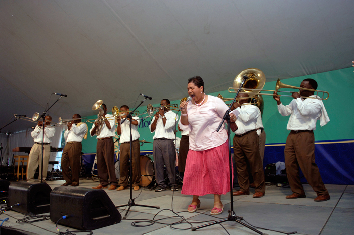 The Madison Hummingbirds perform at the Sacred Music concert in the Roots of Virginia Cultur program at the 2007 Festival.