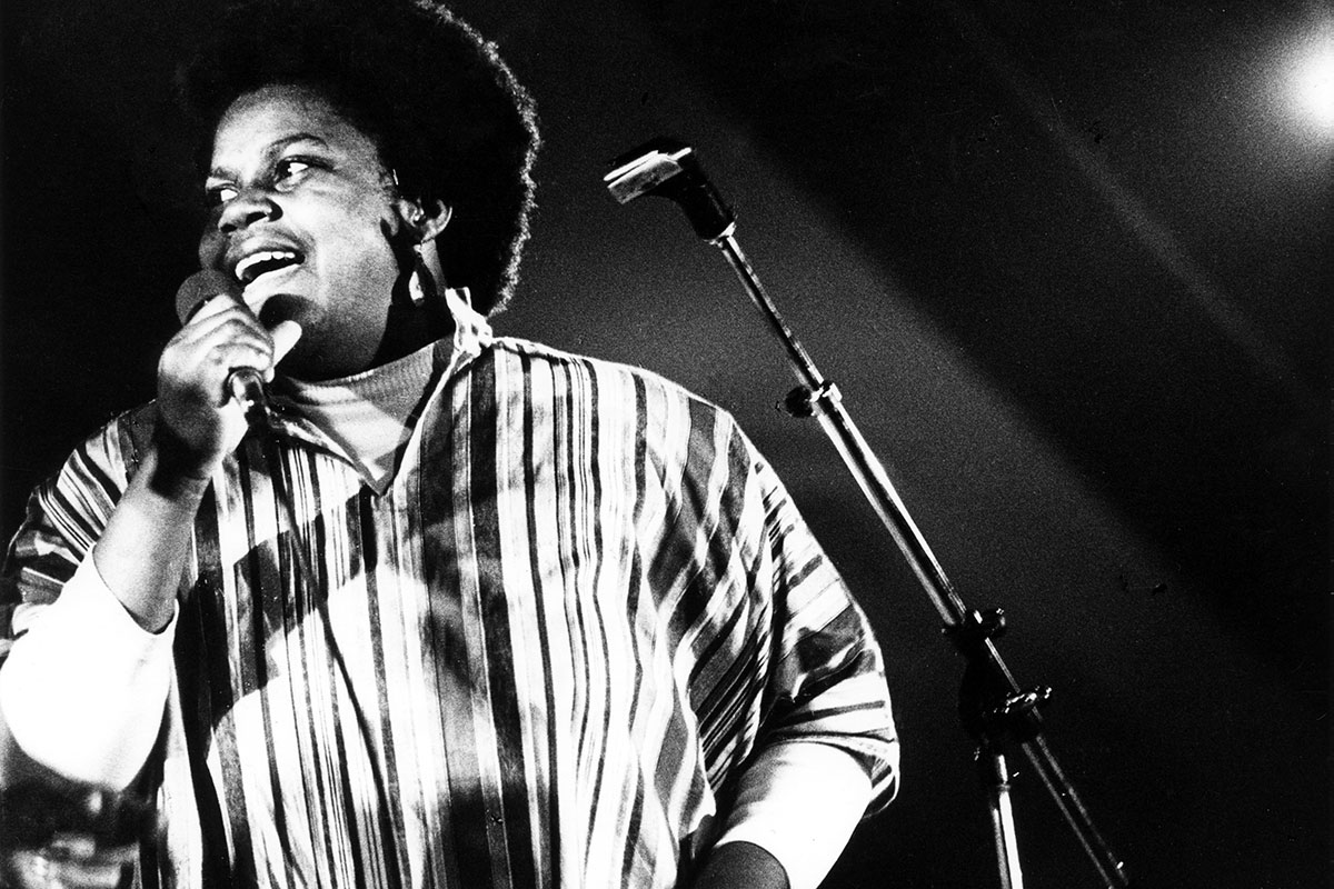 Bernice Johnson Reagon performs with Sweet Honey in the Rock in Michigan, 1977.