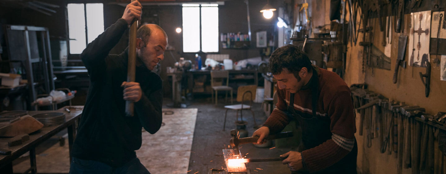The youngest generation of blacksmiths in Gyumri, Armenia carry on a tradition dating back thousands of years. Photo credit Narek Harutyunyan, Smithsonian Institution.