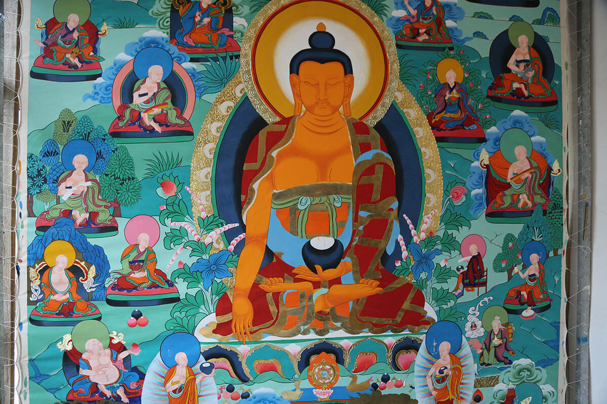 Thangka of a Buddha