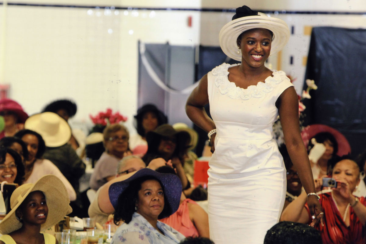 The Alfred Street Baptist Church in Alexandria, Virginia, produces an annual spring fashion show featuring millinery collections modeled by members of the congregation.