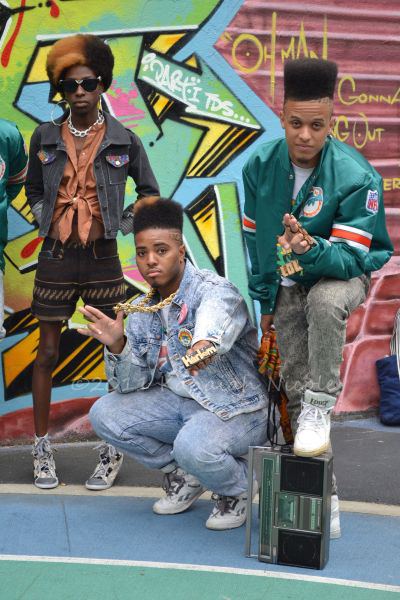 Tribe NYC is a young group inspired by an earlier era of hip-hop style and dress.