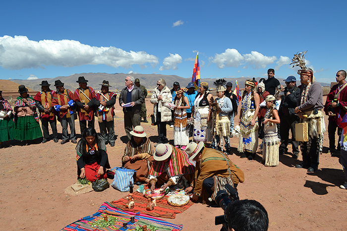 A ceremony at Tiwanaku.