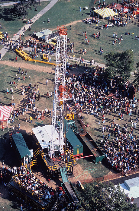 A highlight of the 1978 Festival was a 130-foot-high oil drilling rig on the site of the new National Museum of African American History and Culture.