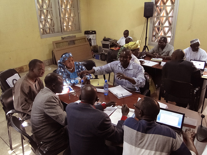 Staff from several museums in West Africa participate in workshop sessions on community engagement in exhibition and program development.