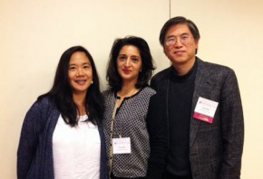 Margarat Magat, Fariha Khan, and Juwen Zhang at the 2014 American Folklore Society meeting.