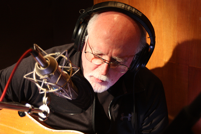 Original band member John Starling records for <em>Long Time... Seldom Scene</em> at Bias Recording in Springfield, Virginia.