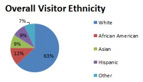 Overall visitor ethnicity. Graphic by Julia Aguilar Jerez