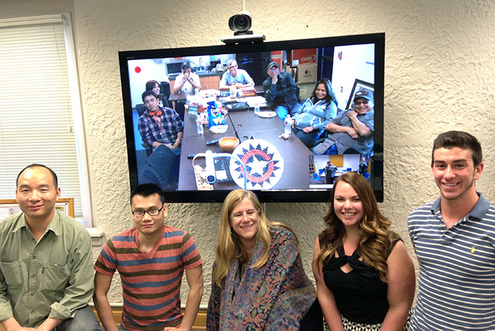 "During this GALACTIC video conference, Navajo Technical and Indiana University students discussed Dr. Martin Luther King's sermon ""Loving Your Enemies."" Students also shared a special material object from home."